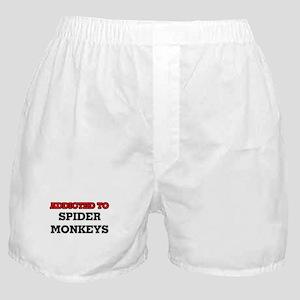 Addicted to Spider Monkeys Boxer Shorts