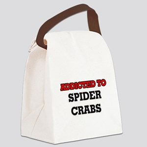 Addicted to Spider Crabs Canvas Lunch Bag