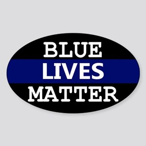 Blue Lives Matter Blue Stripe Sticker
