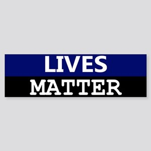 Blue Lives Matter Blue Stripe Bumper Sticker