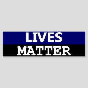 Blue Lives Matter Blue Stripe Bumper Sticker