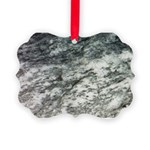 Black and White Rock at Beach Ornament