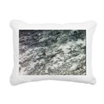 Black and White Rock at Beach Rectangular Canvas P
