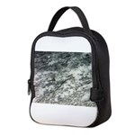 Black and White Rock at Beach Neoprene Lunch Bag