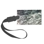 Black and White Rock at Beach Luggage Tag