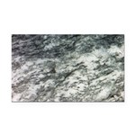 Black and White Rock at Beach Rectangle Car Magnet