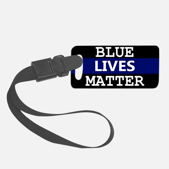 Blue Lives Matter Blue Stripe Luggage Tag