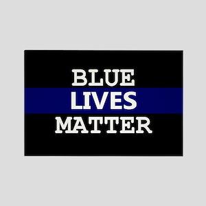 Blue Lives Matter Blue Stripe Magnets