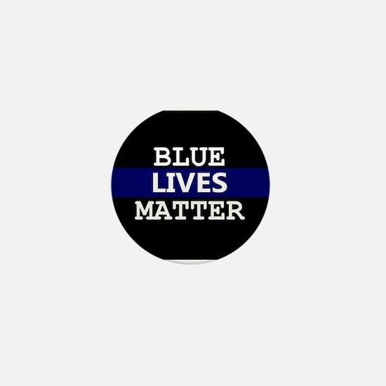 Blue Lives Matter Blue Stripe Mini Button