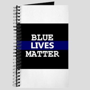 Blue Lives Matter Blue Stripe Journal
