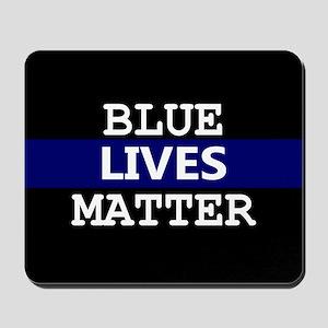 Blue Lives Matter Blue Stripe Mousepad