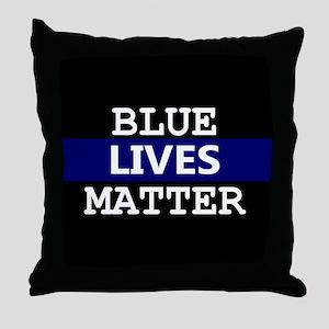 Blue Lives Matter Blue Stripe Throw Pillow