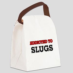 Addicted to Slugs Canvas Lunch Bag