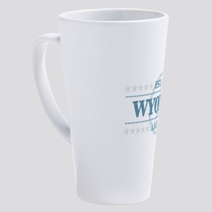 Wyoming 17 oz Latte Mug
