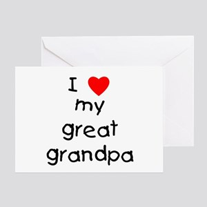 I love my great grandpa Greeting Card