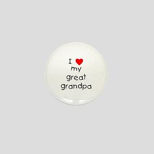 I love my great grandpa Mini Button