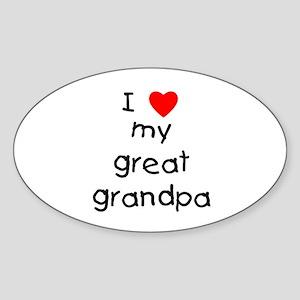 I love my great grandpa Sticker (Oval)