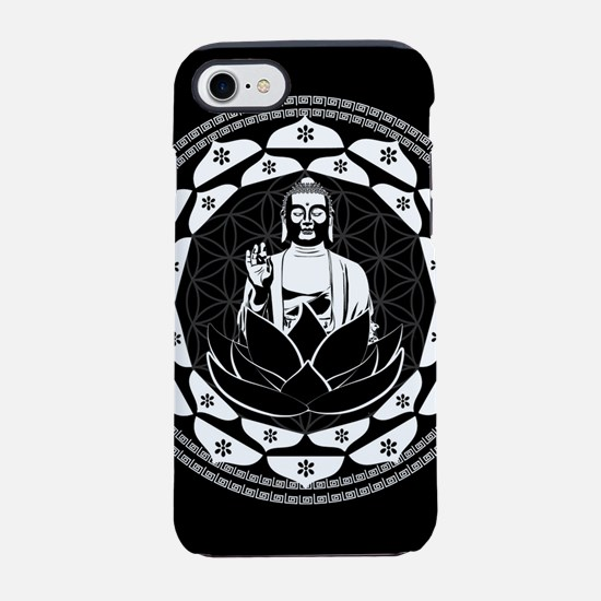 Buddha Black & White Yin & Y iPhone 8/7 Tough Case