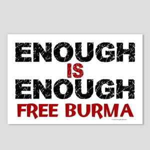 Enough Is Enough (Burma) 1.2 Postcards (Package of