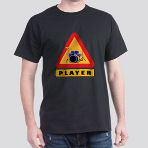 Drumset Player Caution Sign T-Shirt