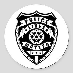Police Matter Round Car Magnet