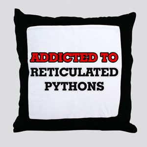 Addicted to Reticulated Pythons Throw Pillow