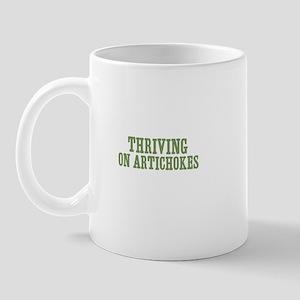 Thriving On Artichokes Mug