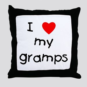I love my gramps Throw Pillow
