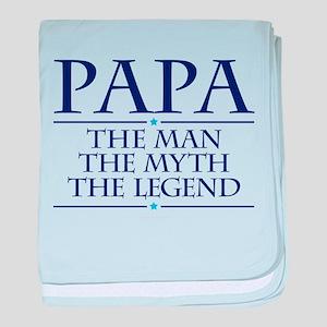 Papa Man Myth Legend baby blanket