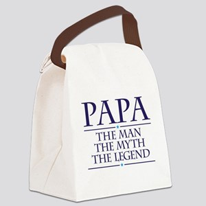 Papa Man Myth Legend Canvas Lunch Bag