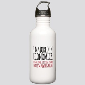 Majored In Economics Stainless Water Bottle 1.0L