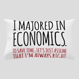 Majored In Economics Pillow Case