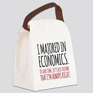 Majored In Economics Canvas Lunch Bag