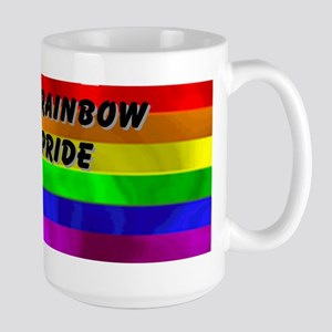 RAINBOW PRIDE TEXT FLAG Large Mug