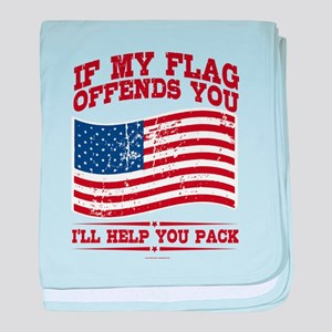 If My Flag Offends baby blanket