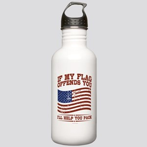 If My Flag Offends Stainless Water Bottle 1.0L