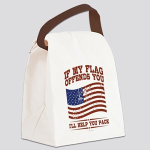 If My Flag Offends Canvas Lunch Bag