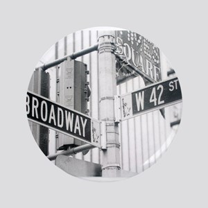 "NY Broadway Times Square - 3.5"" Button"