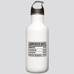 Funny Carpenter Rates Stainless Water Bottle 1.0L