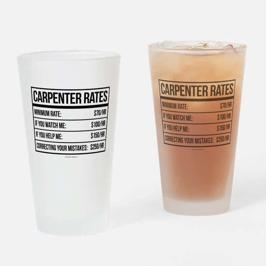 Funny Carpenter Rates Drinking Glass