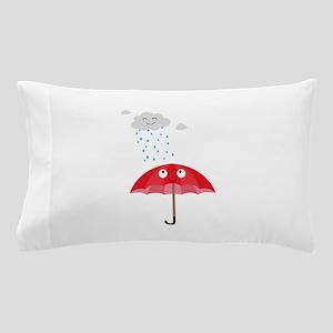 Rain cloud and umbrella Pillow Case