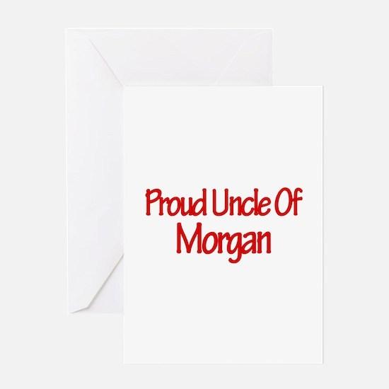 Proud Uncle of Morgan Greeting Card