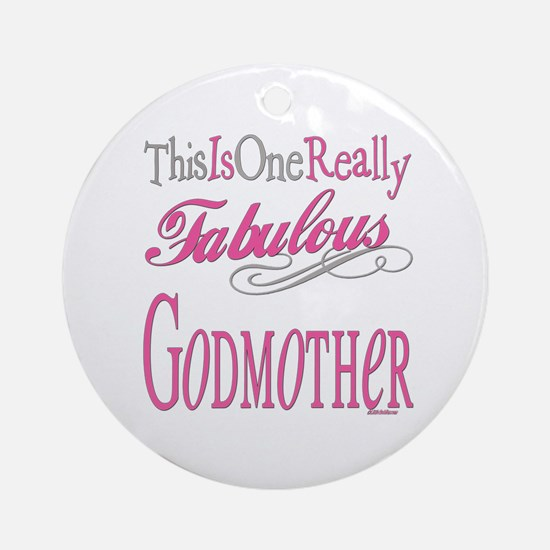 Fabulous Godmother Ornament (Round)