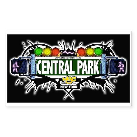 Central Park (Black) Rectangle Sticker