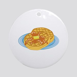 Waffles Round Ornament