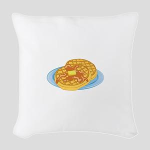 Waffles Woven Throw Pillow