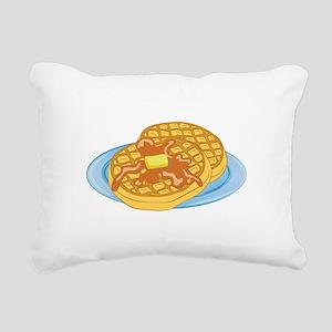 Waffles Rectangular Canvas Pillow
