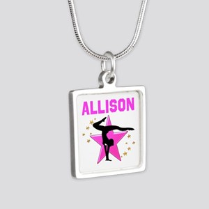 GYMNAST FOREVER Silver Square Necklace