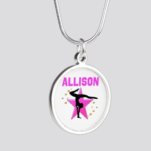 GYMNAST FOREVER Silver Round Necklace