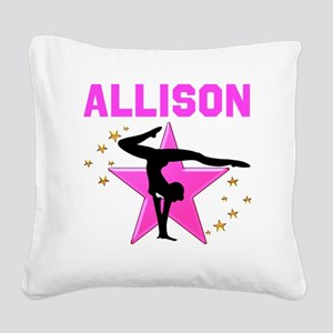 GYMNAST FOREVER Square Canvas Pillow